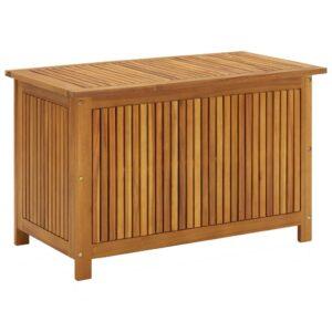 Caixa arrumação para jardim 90x50x106 cm madeira acácia maciça - PORTES GRÁTIS