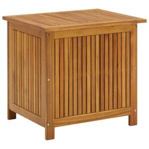 Caixa arrumação para jardim 60x50x106 cm madeira acácia maciça - PORTES GRÁTIS