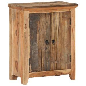 Aparador 60x33x75 cm madeira acácia e recuperada maciças - PORTES GRÁTIS