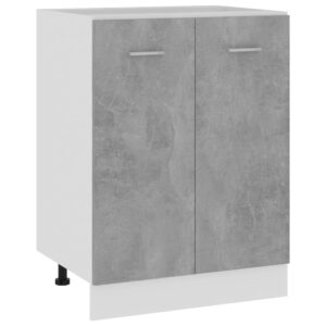 Armário inferior 60x46x81,5 cm contraplacado cinzento cimento - PORTES GRÁTIS