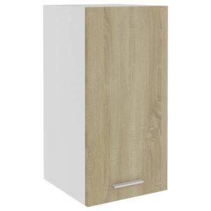 Armário de parede 29,5x31x60 cm contraplacado cor carvalho - PORTES GRÁTIS