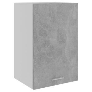 Armário de parede 39,5x31x60 cm contraplacado cinza cimento - PORTES GRÁTIS