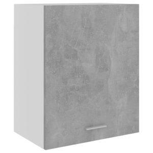 Armário de parede 50x31x60 cm contraplacado cinza cimento - PORTES GRÁTIS