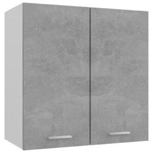 Armário de parede 60x31x60 cm contraplacado cinza cimento - PORTES GRÁTIS