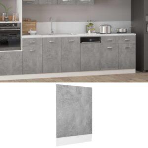 Painel máquina lavar louça 45x3x67 cm contraplacado cinzento - PORTES GRÁTIS