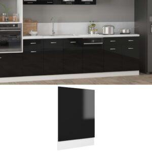 Painel máquina lavar louça 45x3x67 cm contraplacado preto - PORTES GRÁTIS