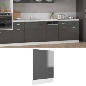 Painel máquina lavar louça 45x3x67 contraplacado cinzento - PORTES GRÁTIS