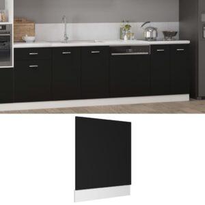 Painel máquina lavar louça 59,5x3x67 cm contraplacado preto - PORTES GRÁTIS