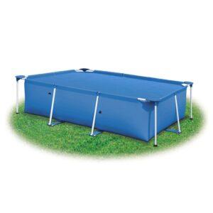 Cobertura retangular para piscina 600x400 cm PE azul - PORTES GRÁTIS