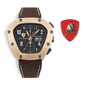 Relógio Lamborghini® Spyderleggero Chronograph Day Date IP Rose Gold TLF-T07-5 - Swiss Made Automático - Titânio