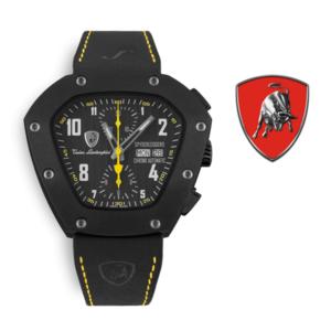 Relógio Lamborghini® Spyderleggero Chronograph Day Date Yellow TLF-T07-3 - Swiss Made Automático - Titânio