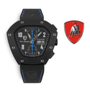 Relógio Lamborghini® Spyderleggero Chronograph Day Date Blue TLF-T07-4 - Swiss Made Automático - Titânio