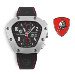 Relógio Lamborghini® Spyderleggero Chronograph Day Date Red TLF-T07-2 - Swiss Made Automático - Titânio