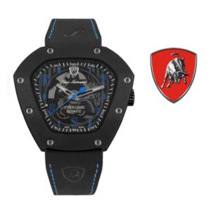Relógio Lamborghini® Spyderleggero Skeleton Blue TLF-T06-4 - Swiss Made Automático - Titânio