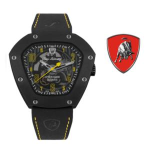 Relógio Lamborghini® Spyderleggero Skeleton Yellow TLF-T06-3 - Swiss Made Automático - Titânio