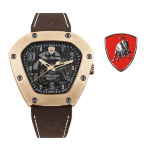 Relógio Lamborghini® Skeleton IP Rose Gold TLF-T06-5 - Swiss Made Automático - Titânio