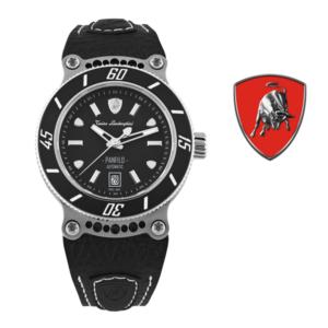 Relógio Lamborghini® Panfilo Date Titanium TLF-T03-1 - Swiss Made Automático - Titânio