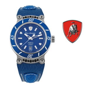 Relógio Lamborghini® Panfilo Date Blue TLF-T03-2 - Swiss Made Automático - Titânio