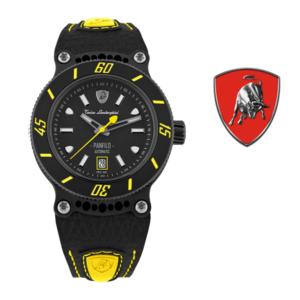 Relógio Lamborghini® Panfilo Date Yellow TLF-T03-5 - Swiss Made Automático - Titânio