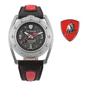 Relógio Lamborghini® Cuscinetto R Red TLF-T02-2 - Swiss Made automático - Titânio
