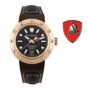 Relógio Lamborghini® Cuscinetto Date IP Rose Gold TLF-T01-5 - Swiss Made automático - Titânio