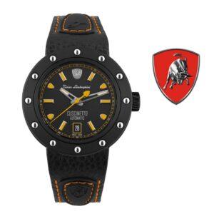 Relógio Lamborghini® Cuscinetto Date Orange TLF-T01-3 - Swiss Made automático - Titânio