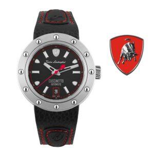 Relógio Lamborghini® Cuscinetto Date Blue TLF-T01-2 - Swiss Made automático - Titânio
