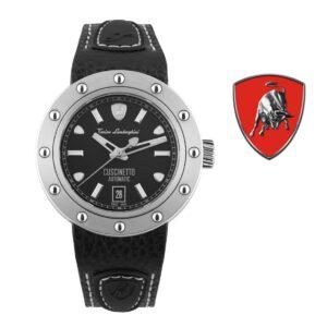 Relógio Lamborghini® Cuscinetto Date Blue TLF-T01-1 - Swiss Made automático - Titânio