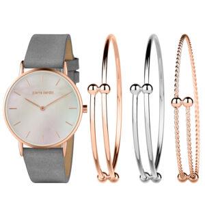 Conjunto Pierre Cardin® Relógio e 3 Pulseiras | PCX7560L304