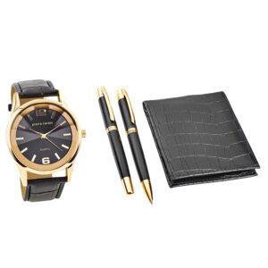 Conjunto Pierre Cardin® PCX7870EMI | Relógio | Carteira | 2 Canetas