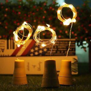 Grinalda de Luz LED Ledkia Bottle Solar (Branco frio 5500K - 6000K)