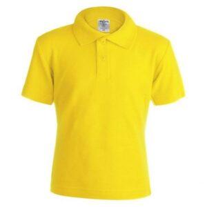 Polo de Manga Curta Criança 145876 Amarelo L