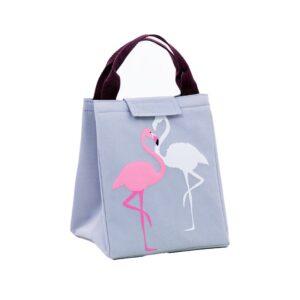Bolsa Térmica Flamingos Cinza - Transporte Alimentos em Segurança , Independentemente da Temperatura Ambiente | PJM04R