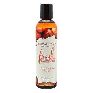 Lubrificante Oral Pleasure Fresh Strawberries 120 ml Intimate Earth (120 ml)