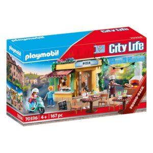 Playset City Life Pizza Restaurant Playmobil 70336 (197 pcs)