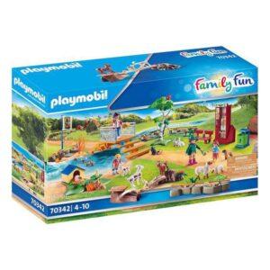 Playset Family Fun Pets Zoo Playmobil 70342 (111 pcs)