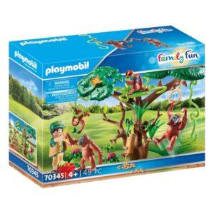 Playset Family Fun Orangutanes Playmobil 70345 (49 pcs)
