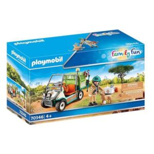 Playset Family Fun Zoo Veterinarian with Medical Car Playmobil 70346 (65 pcs)