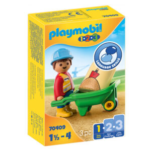 Playset 1,2,3 Worker with Forklift Playmobil 70409 (3 pcs)