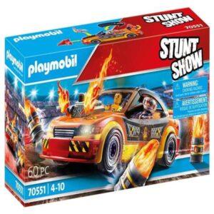 Playset de Veículos Crashcar Playmobil 70551 (60 pcs)