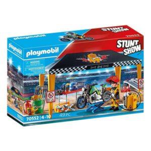 Playset Stuntshow Garage Playmobil 70552 (49 pcs)