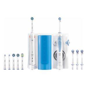 Escova de Dentes Elétrica + Irrigador Dental Oral-B SMART5000+OXYJET Bluetooth Branco