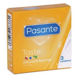 Preservativos Pasante Taste 19 cm (3 pcs)