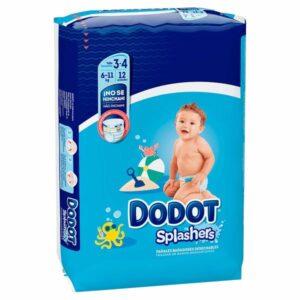 Fraldas descartáveis Dodot Splashers 3-4 (12 uds) (Refurbished A+)