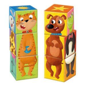 Conjunto de cubos Match & Mix Goula animais (6 Peças)