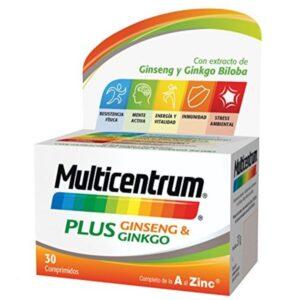Complemento Alimentar Multicentrum Plus Ginseng & Ginkgo (30 uds) (Refurbished A+)