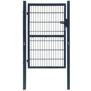 2 D portão de cerca (simples), antracite cinzento 106 x 170 cm - PORTES GRÁTIS