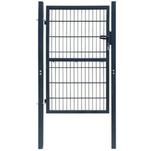 2 D portão cerca (simples), antracite cinzento 106 x 190 cm - PORTES GRÁTIS