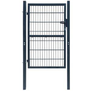2 D portão de cerca (simples), antracite cinzento 106 x 230 cm - PORTES GRÁTIS