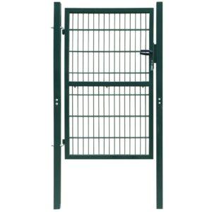2 D portão de cerca (simples), verde 106 x 170 cm - PORTES GRÁTIS